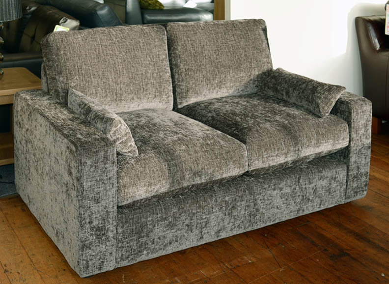 2 seater brown fabric sofa for sale